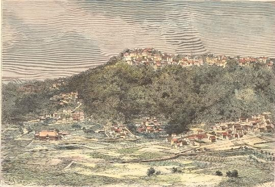MADAGASCAR : AMBOHIMANGA, old print, engraving, plate