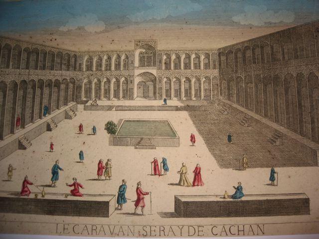 LE CARAVAN SERAY DE CACHAN, see optics, 18th, france, engraving,