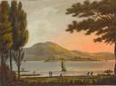 LAGO DI GUARDO, Italy, lake, engraving, old print, plate, lithog