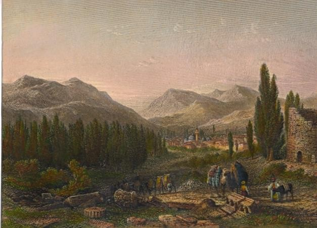 THYATIRA, Turkey, old print, engraving, plate