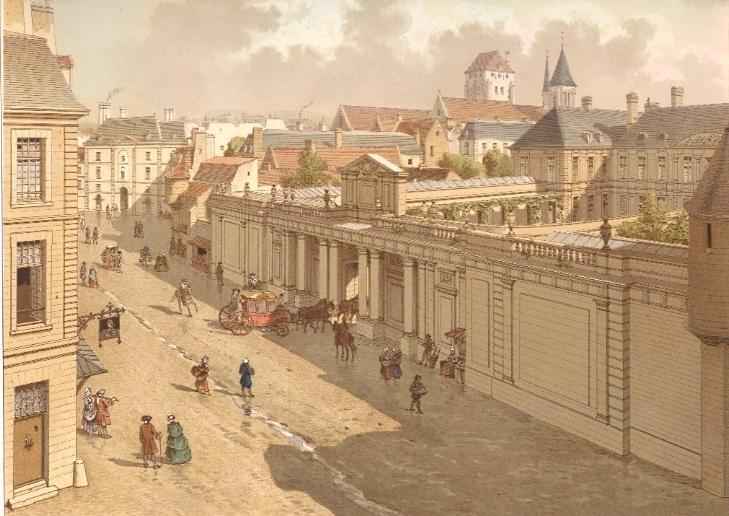 LE TEMPLE en 1770, Paris, France, Francia, Frankreich, stich, gr