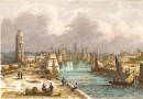 DUNKERQUE, France, ports, marine, gravures anciennes, stich