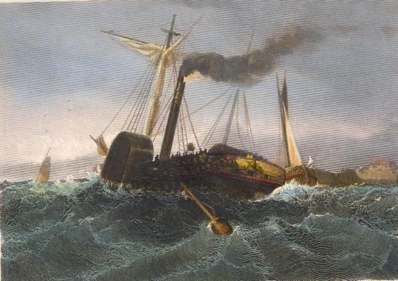 PAQUEBOT DU HAVRE À CHERBOURG, France, maritime, naval, ship, bo