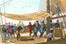 TRAVERSÉE, DANSE DE NÈGRES, Esclavage, Antilles, Afrique, gravur