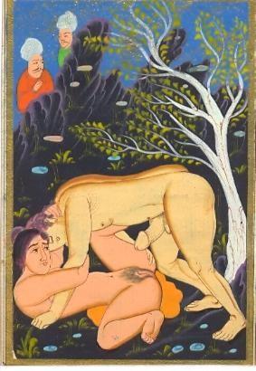 n°2, erotic engraving 19th, old print, plates, ottoman miniature