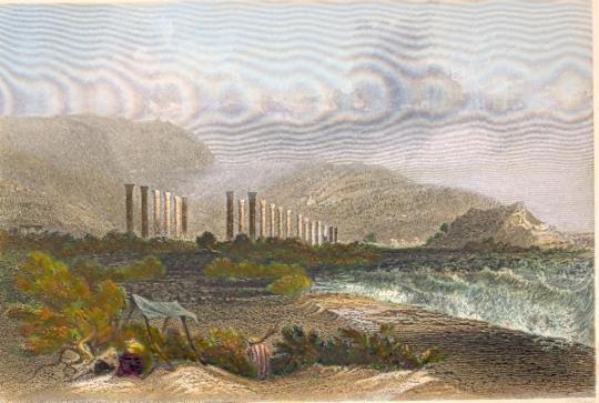 RUINS OF SOLI, OR POMPEIOPOLIS, Asia Minor, Turkey, old print, e