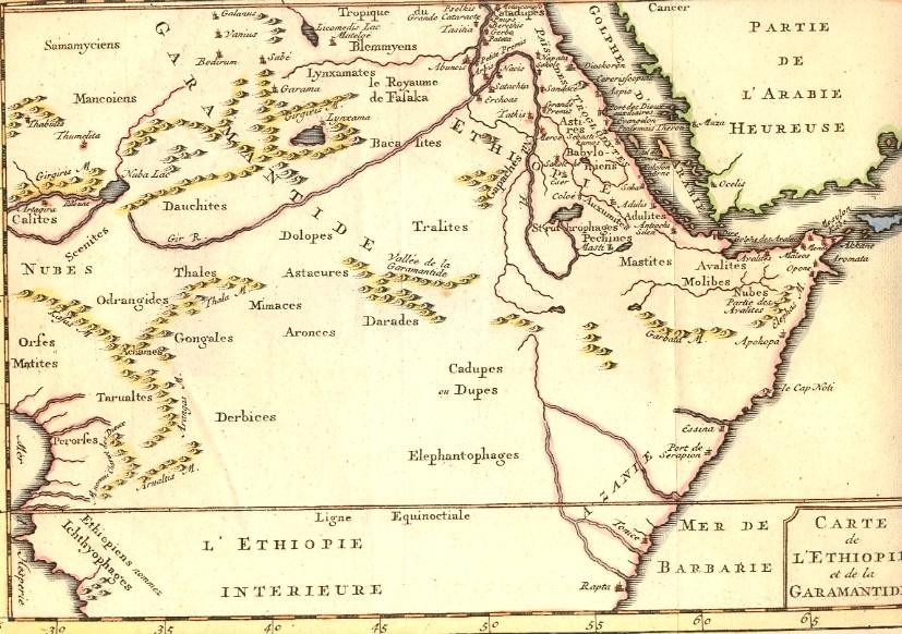 ETHIOPIE & GARAMANTIDE, Africa, map 18th, arabia,
