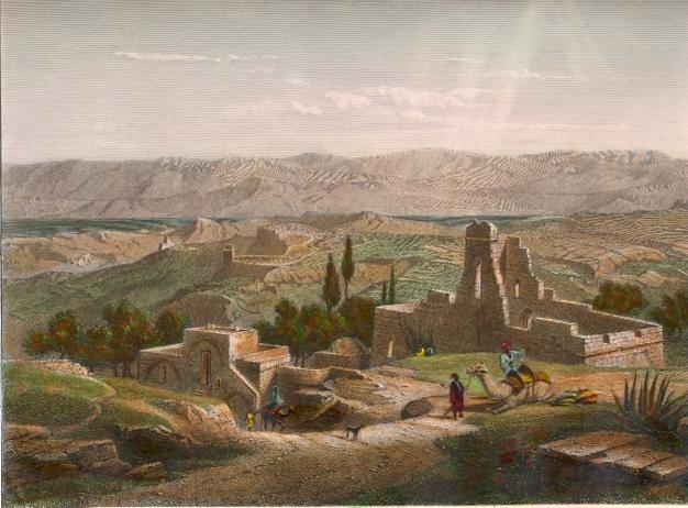 BÉTHANIE, Holyland, middle east, old print, jordan, jordania, ol