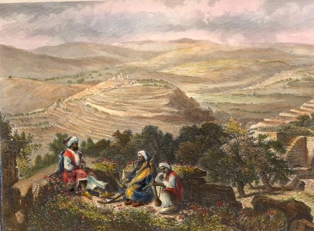 VUE PRISE DE NEBY SAMOUÏL, Holyland, middle east, israël, palest