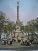 FONTAINE DE LA PLACE DU CHÂTELET, France, Paris, gravures ancien