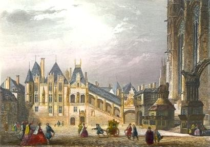 ANCIENNE COUR DES COMPTES, France, Paris, gravures anciennes, st