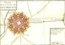 PLAN DE LA VILLE DU NEU BRISACK, France, Haut-Rhin, cartes, grav
