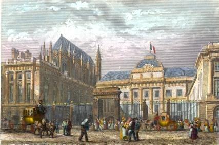 LE PALAIS DE JUSTICE, Francia, Parigi, Frankreicht, engraving, p