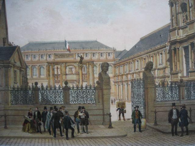 PALAIS DES BEAUX-ARTS, Francia, parigi, lithography, plates, pri
