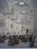 LA MADELEINE intérieur, francia, parigi, lithography, church, pl