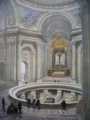 LES INVALIDES, intérieur, France, paris, lithographies, tombeau