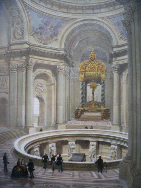LES INVALIDES intérieur, Francia, parigi, lithography, napoléon
