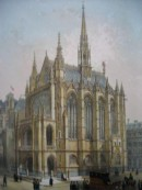 LA SAINTE CHAPELLE, France, Paris, lithographies, égise, palais