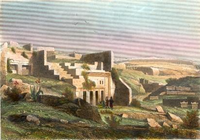 LYBIA : CYRÈNE, North africa, engraving, plates, old print