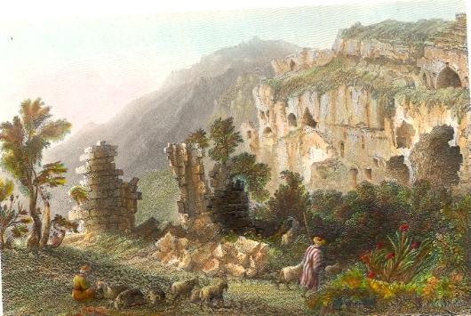 SELEUCIA, Syria, middle east, engraving, plates, print