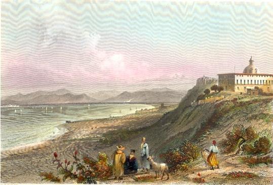 CONVENT OF MOUNT CARMEL, Israel, Palestinia, middle east, engrav