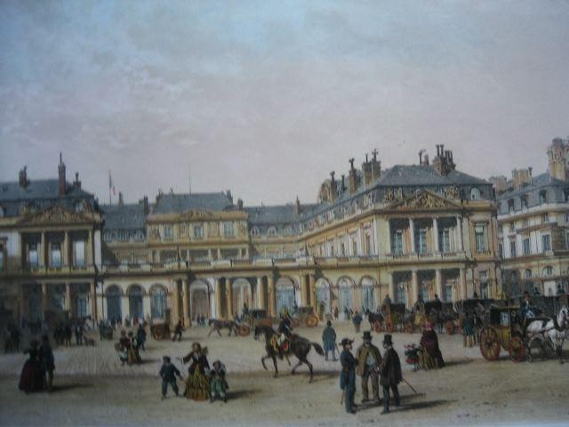 PALAIS-ROYAL, France, paris, lithography, print, engraving, plat