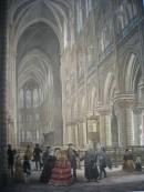 INTÉRIEUR DE NOTRE-DAME, France, parigi, lithography, engraving,