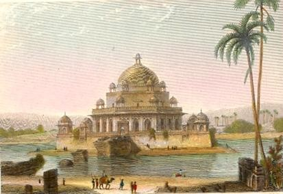 MAUSOLEUM OF THE EMPEROR SHERE SHAH : India, asia, indien, old p