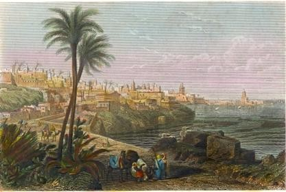 ALGÉRIA : ALGER, vue générale, north africa, algéria, old print,