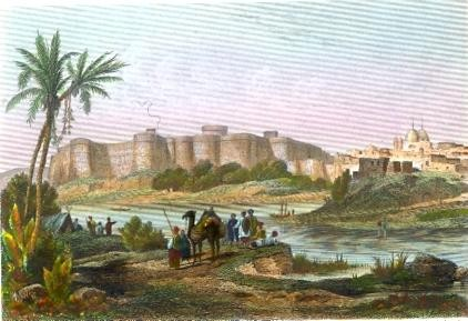 HAYDER-ABAD (sindhi) asia, india, hyderabab, old print, engravin