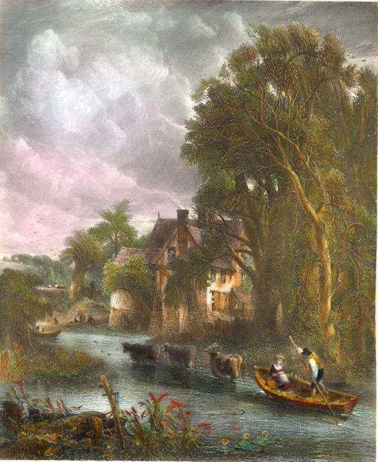 THE VALLEY FARM, Constable, england, engraving, plates, print,