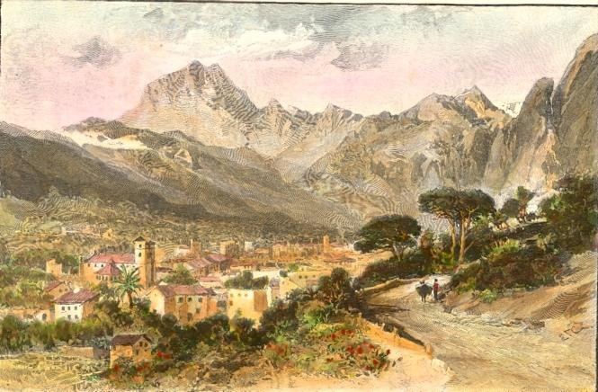 SOLLER, Spain, balearic islands, print, plates, engraving