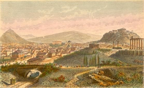 ATHÈNES, Greece, Griechenland, print, engraving, plates