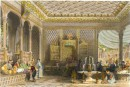 INTERIOR OF A TURKISH CAFFINET, Constantinople, Turquie, gravure