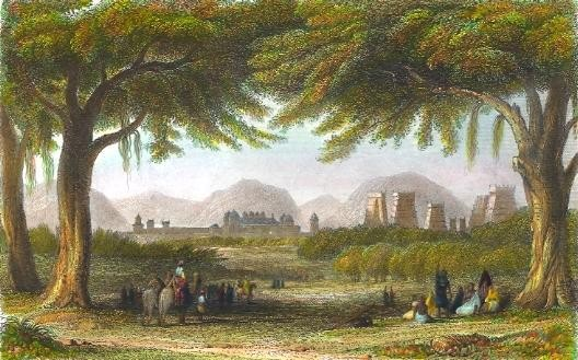 MADURA, THE CELEBRATED HINDOO TEMPLES & PALACE, Asia, indies, in