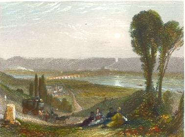 PONT DE L'ARCHE, JUMIÈGES, engraving, plates, print, Turner