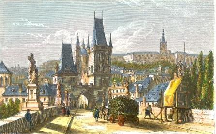 CZECH Republic, PRAG, engraving, plates, prints, tschechien