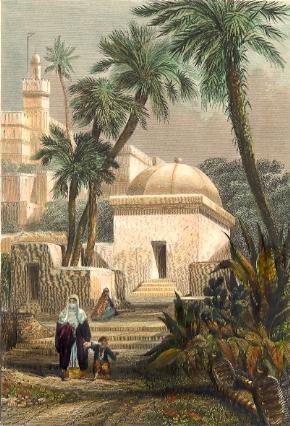 ALGERIA : TOMBEAUX MAURES, Algiers, engraving, plates, prints