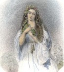 OPHELIE, engraving, plate, print, woman, shakspeare,
