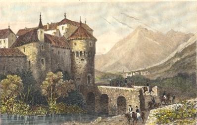 SOHENNA, Austria, tirol, Osterreich, Meran, schenna, engraving,