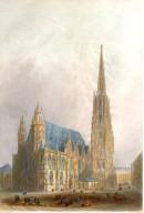 ST STEPHEN'S CHURCH, VIENNA, Austria, Osterreich, Wien, engravin