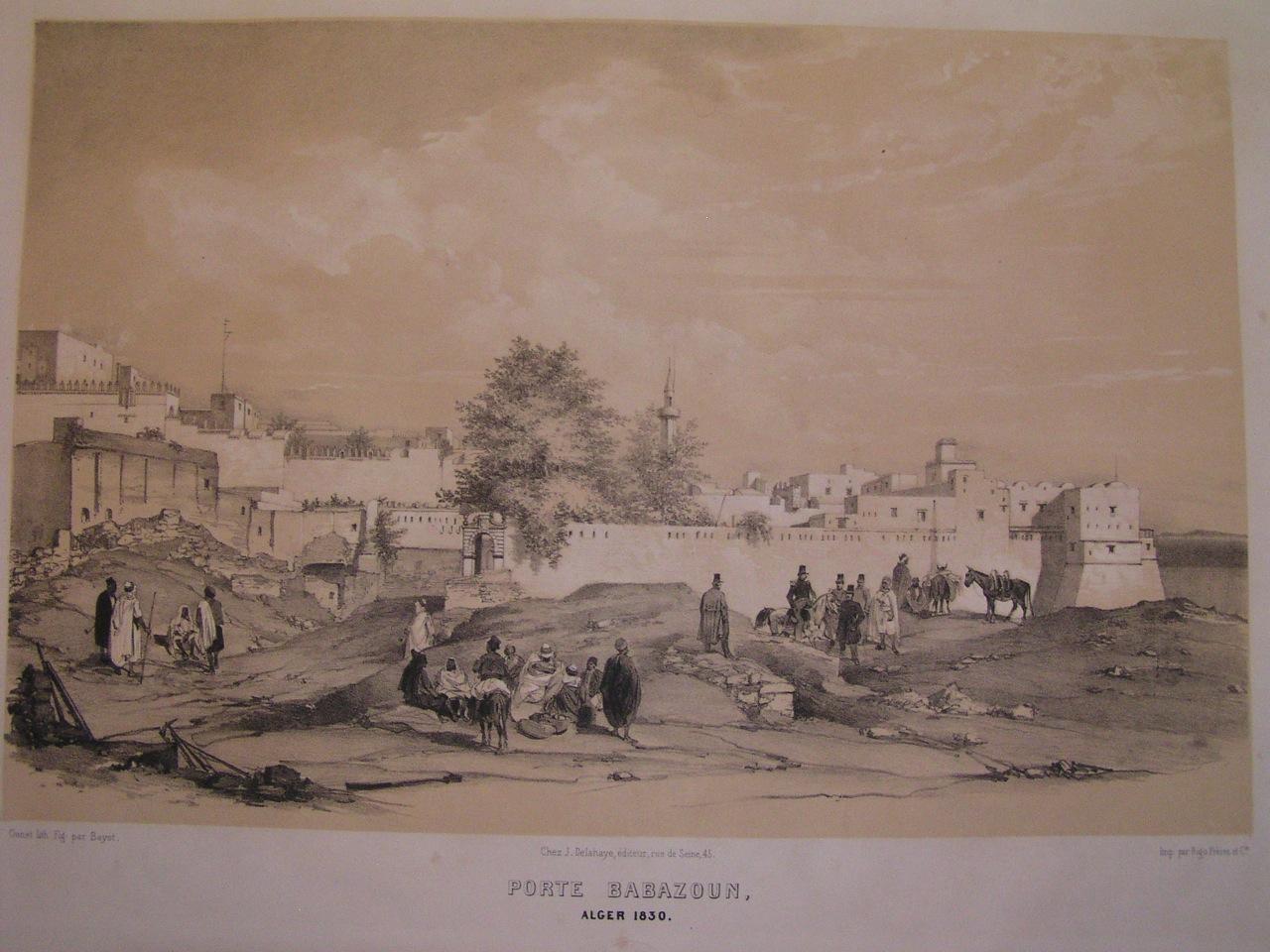 ALGERIA : PORTE BABAZOUN : North africa, algeria, orientalism, e