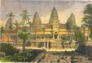CAMBODGIA : ANGKOR WATT, engraving, plate, print, Ankor, Asia,