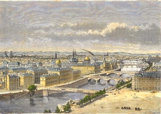PARIS, vue prise de l'église St Gervais, France, Paris, parigi,