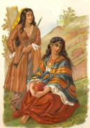 FEMMES TZIGANES, gypsy, romany, print, engraving, plate