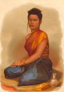 JEUNE FEMME DU CAMBODGE, Cambodia, print, plate, engraving, kost