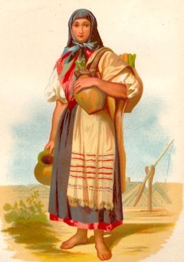 FEMME D'HEVES (Hongrie), hungary, plate, print, engraving, kostu