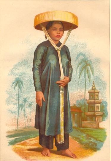 JEUNE FILLE ANNAMITE (Cochinchine) Cambodia, engraving, asia, ko