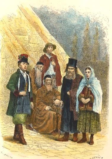 TYPES GALICIENS, Paysans et Juifs : engraving, plate, print, gal