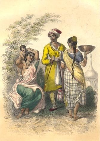 INDIENS, FEMME BRAMINE : Asia costume, engraving, plate, print,